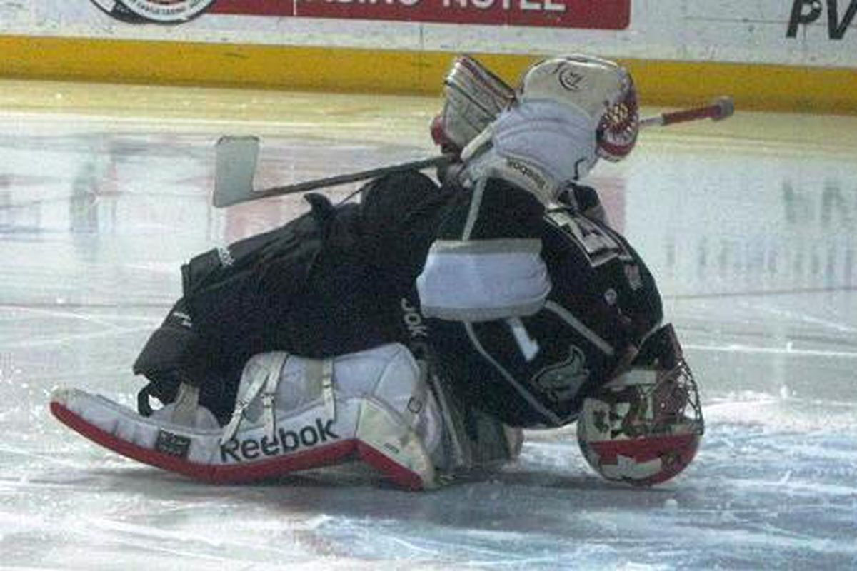 Goalie Adam Russo showed his flexibility playing all 4 games this week
