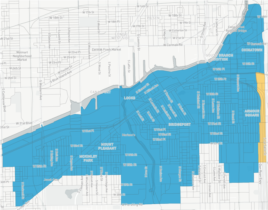 The redrawn 11th Ward map proposed by Asian American civic groups.