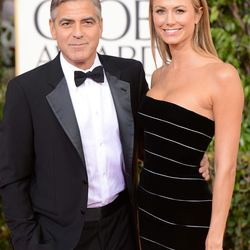 Clooney and main squeeze Stacy Keibler in Armani