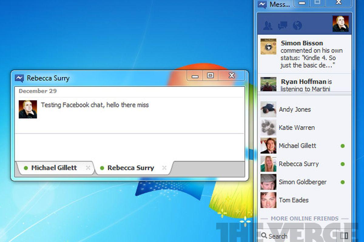 download facebook messenger software for windows 7
