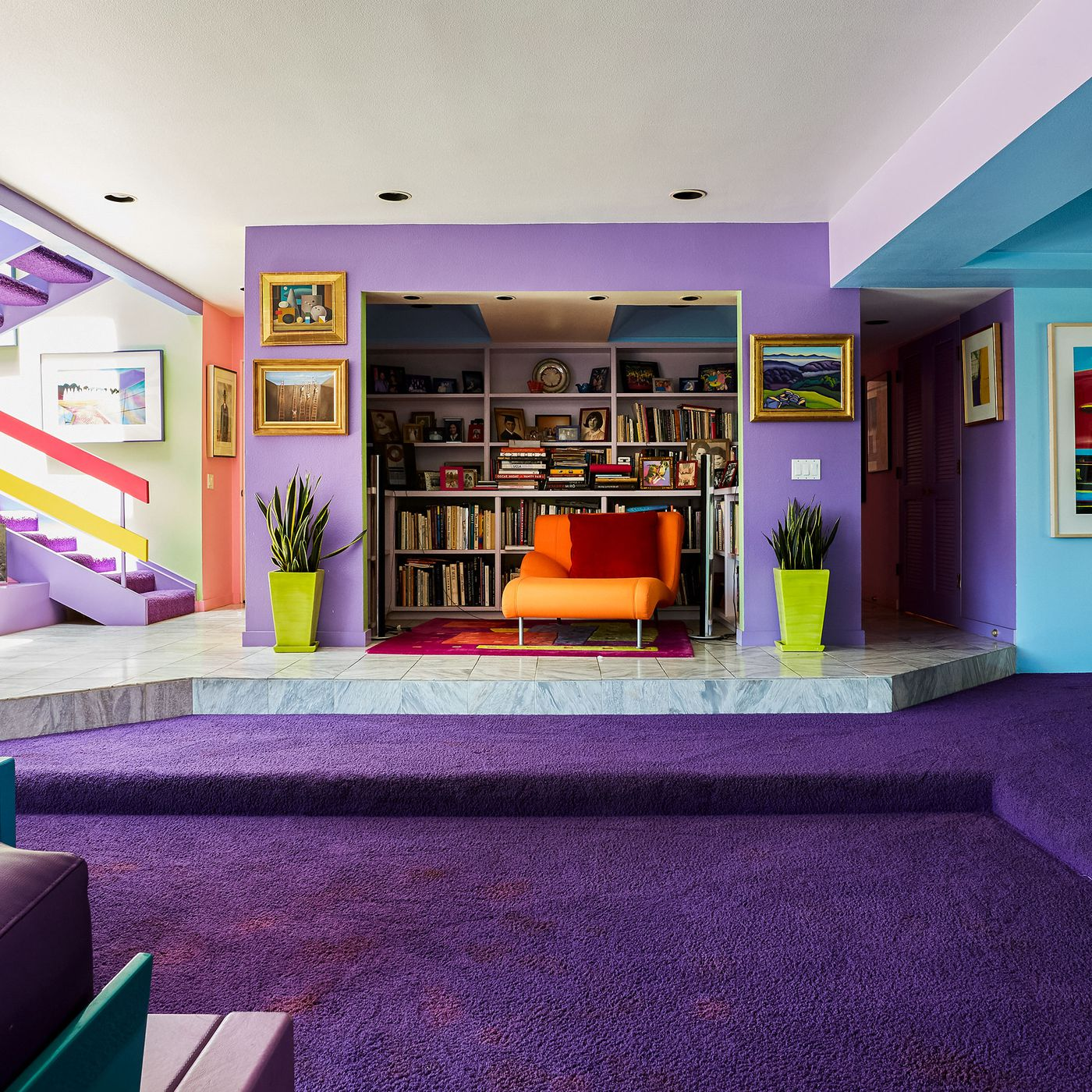 In Santa Barbara Artist Jane Gottlieb Infuses Home With Color Curbed La