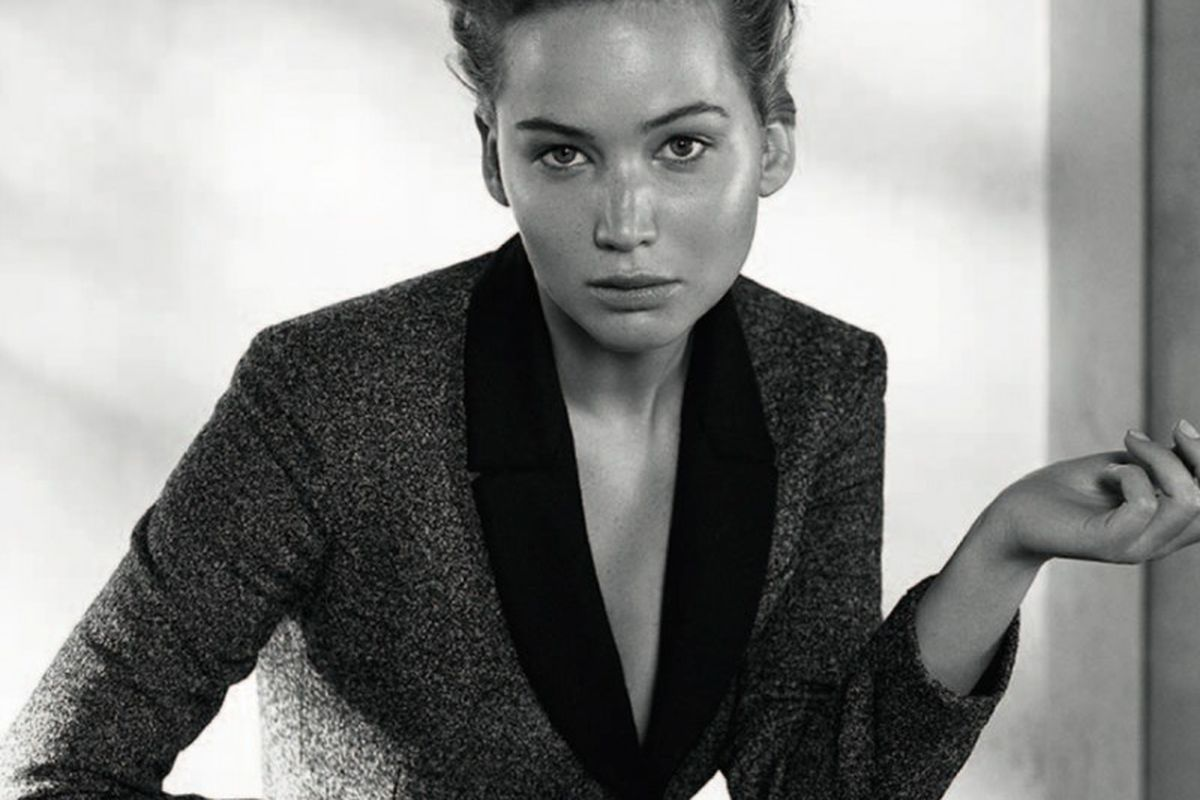 "Image via <a href=""http://www.fashiongonerogue.com/jennifer-lawrence-sits-dior-magazine-fallwinter-2013/"">Fashion Gone Rogue</a>"