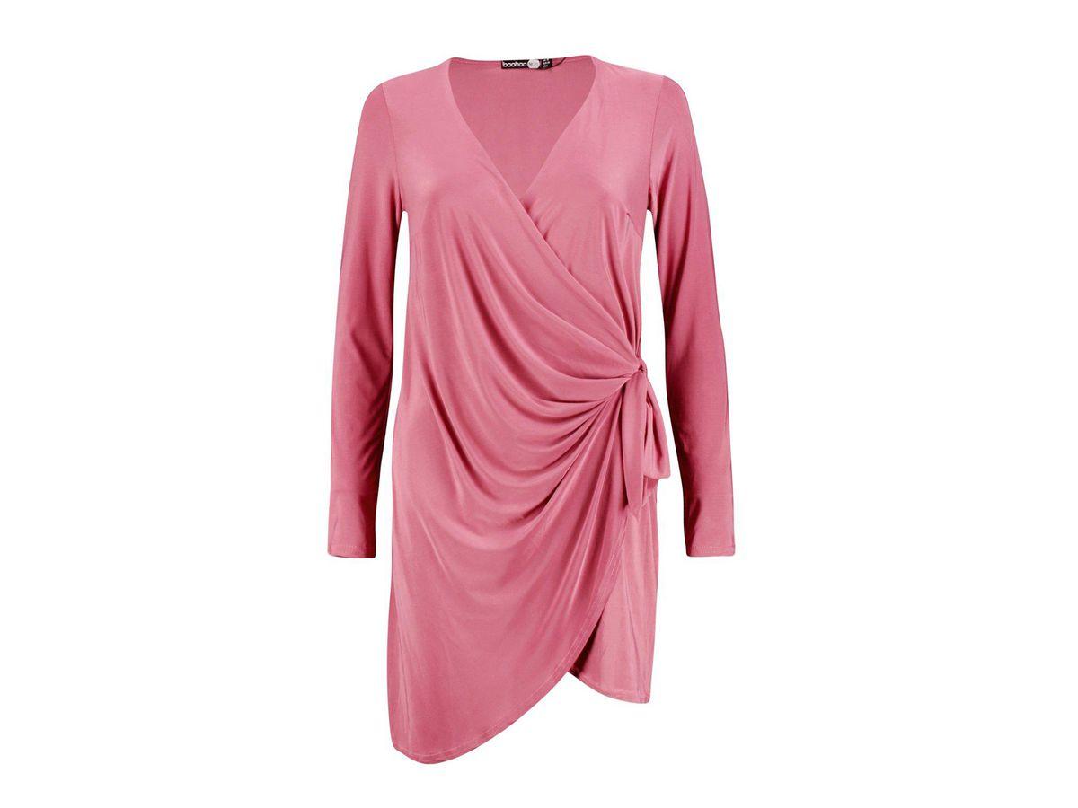 Boohoo Madeleine Drape Knot Detail Dress, $25