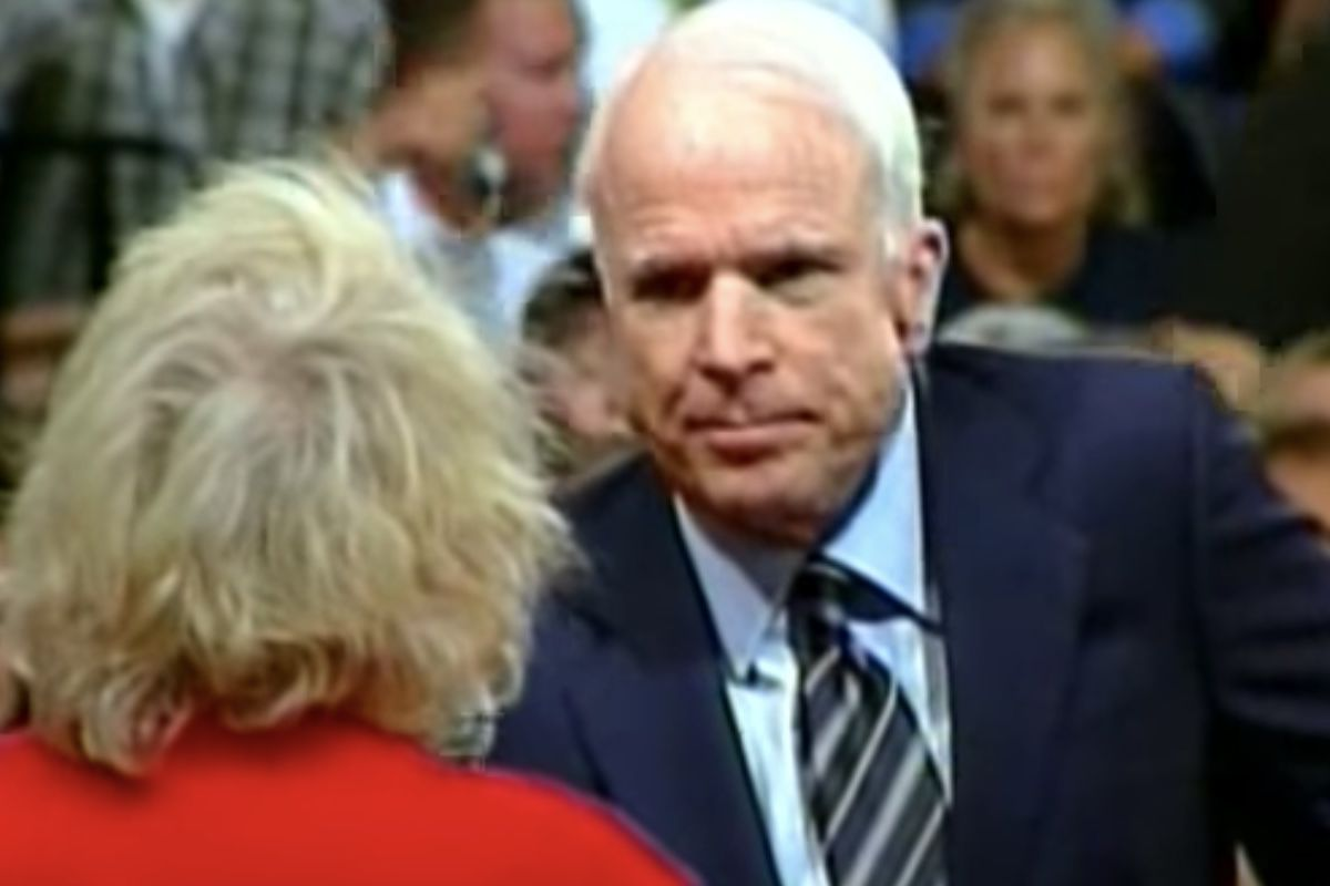 A clip of the late Arizona Sen. John McCain went viral in the immediate hours after his death.