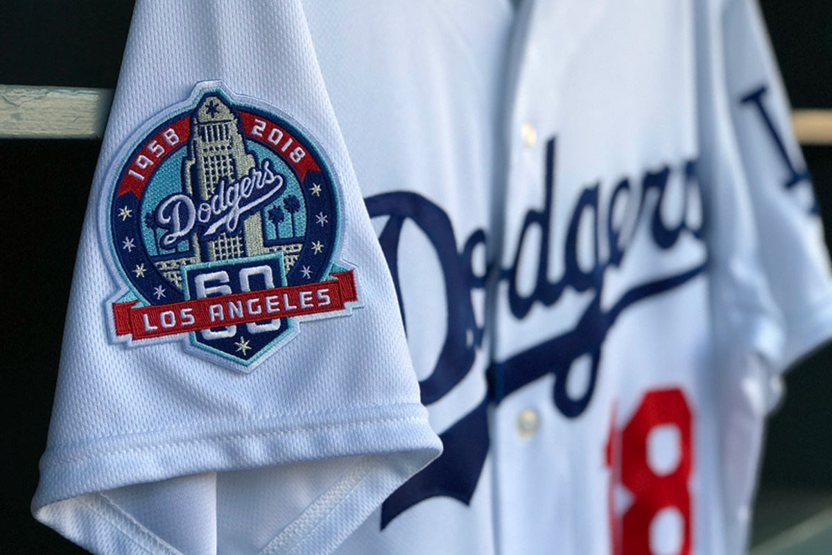 Dodgers to wear uniform patch for 60th anniversary in Los Angeles ... 2b6d520605c