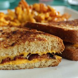 """Grilled Cheese with Bacon from Pop City Diner by <a href=""""http://www.flickr.com/photos/bradleyhawks/7764920012/in/pool-eater/"""">Amuse * Bouche</a>"""