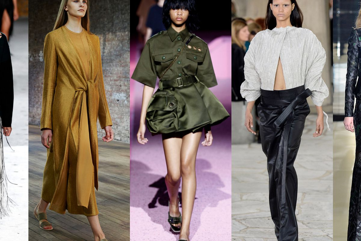 From left: Proenza Schouler, The Row, Marc Jacobs, Loewe, Tom Ford. Photos: Getty, IMaxTree.