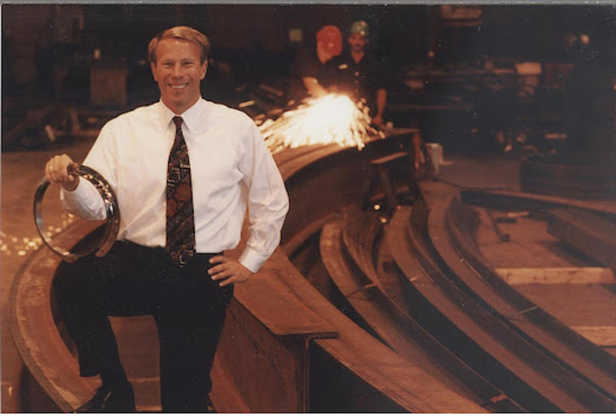 George F. Wendt headed a family company, Chicago Metal Rolled Products, which created the metal trellis that arcs over Pritzker Music Pavilion at Millennium Park.