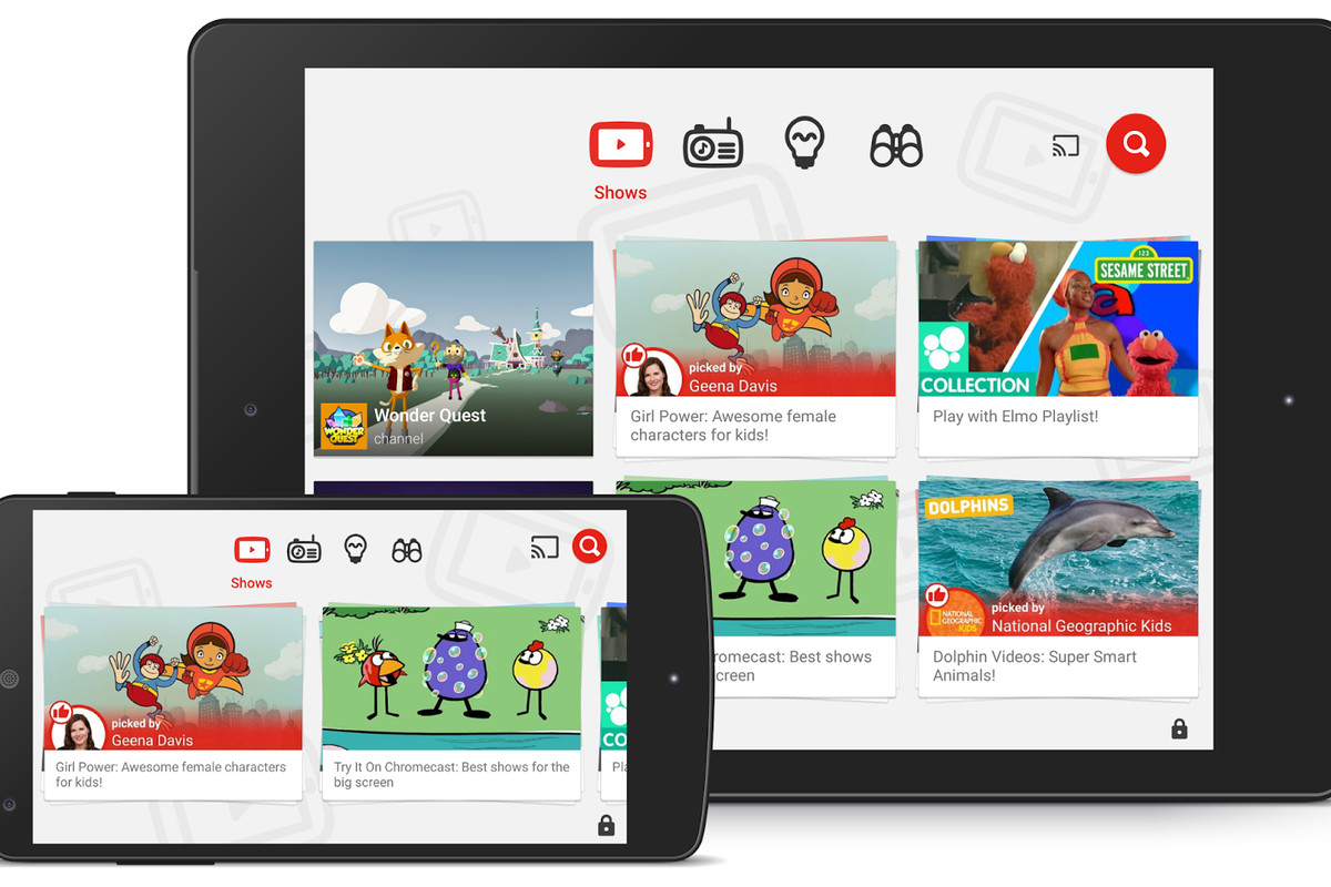 YouTube Kids, the family-friendly video app, is now