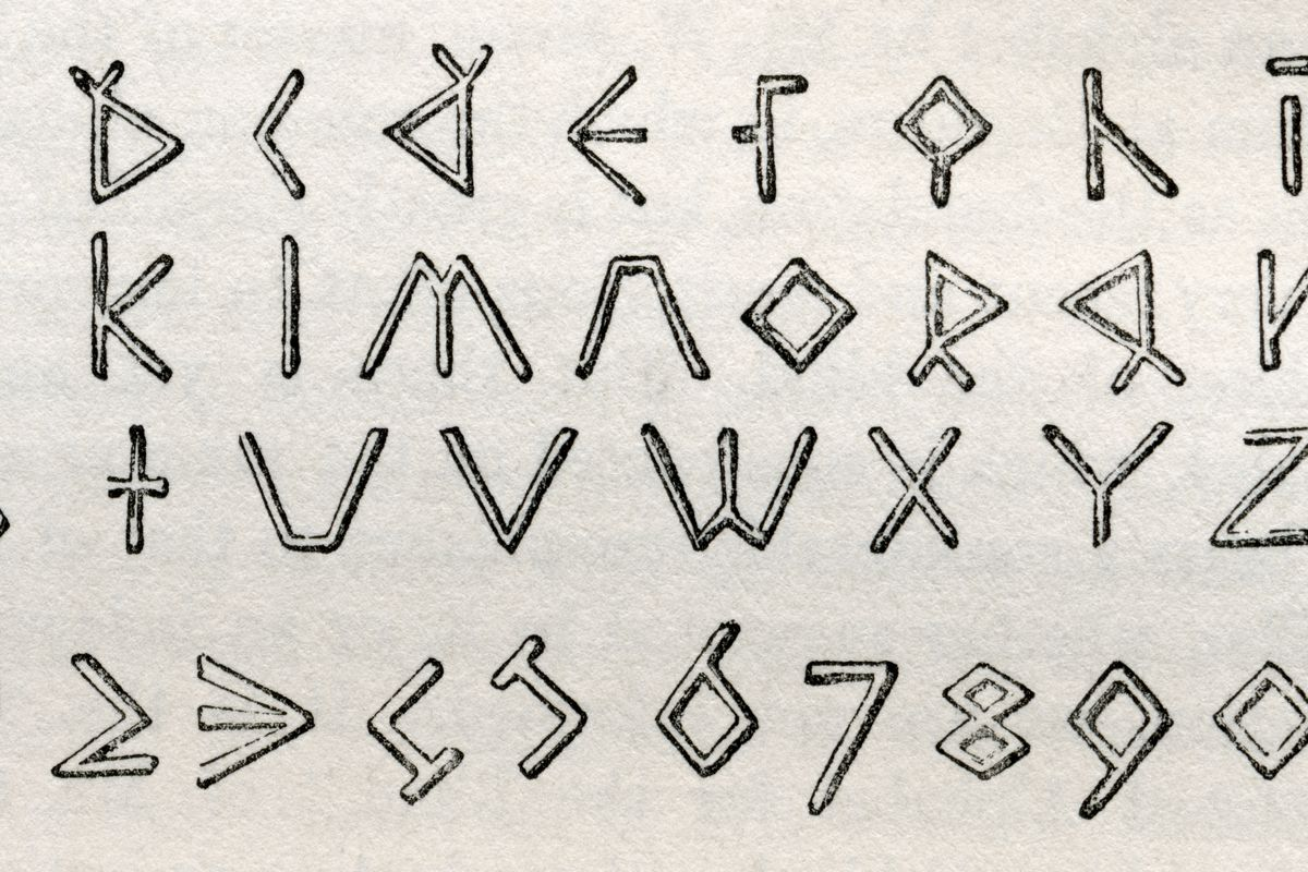 James Gall's Triangular Tactile Alphabet And Numerals For The Blind
