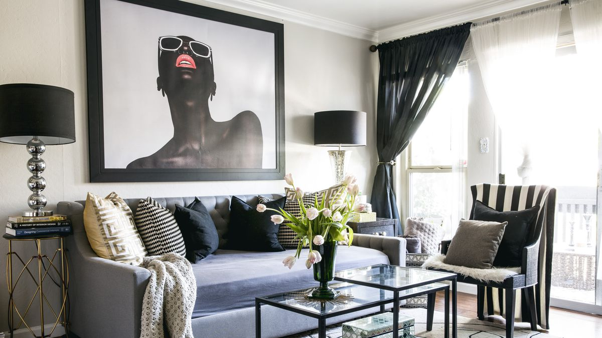Designer Transforms One Bedroom Into Chic Home For Herself And Daughter