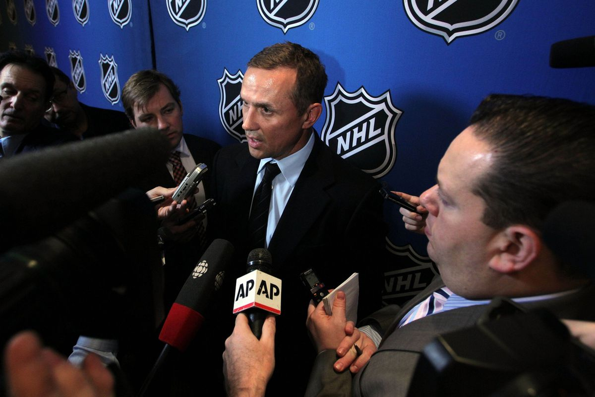 Lightning GM Steve Yzerman knew he would have one of the top four spots in the upcoming draft regardless of the outcome of tonight's festivities.