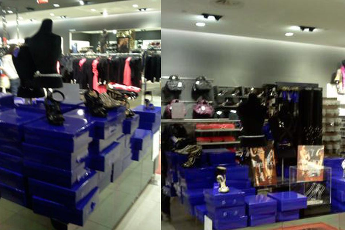 As of late Thursday afternoon, this is what the shoe inventory at the Beverly Center H&M looked like. Lotsa boxes; possibly more in the back
