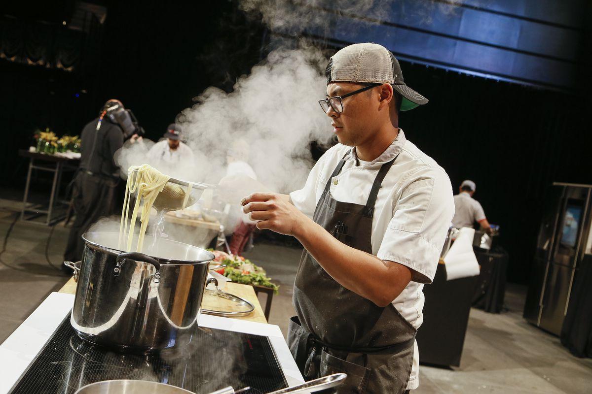 Kevin Tien cooks