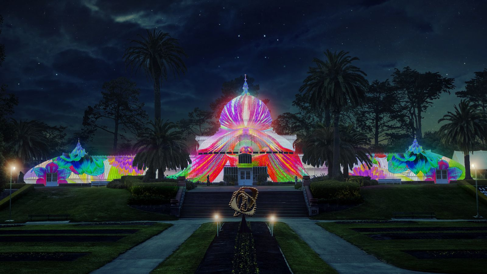 Conservatory of flowers will be illuminated psychedelic - Chicago flower and garden show 2017 ...