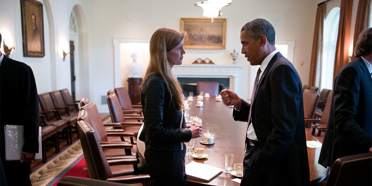 Samantha Power and Barack Obama in The Final Year