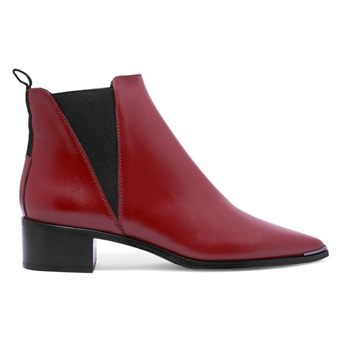 Acne Studios Red  Jensen Leather Ankle Boots