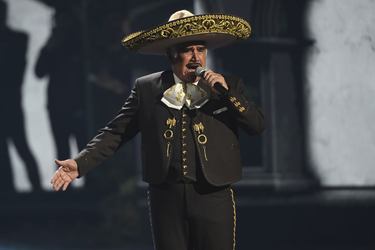 Vicente Fernandez performs a medley at the 20th Latin Grammy Awards in 2019, in Las Vegas.