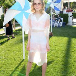 Kiernan Shipka in a Dior dress and Stella McCartney platforms.