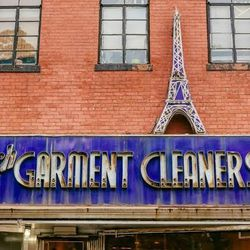 """<b>↑</b> The retro dry-cleaner exterior might be what first attracts you to <b><a href=""""https://frenchgarmentcleaners.com/"""">French Garment Cleaners Co.</a></b> (85 Lafayette Avenue), but it's the mix of brands like <b>A.P.C.</b>, <b>Rachel Comey</b>, <b>R"""
