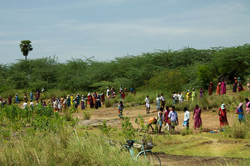 NREGS participants in India