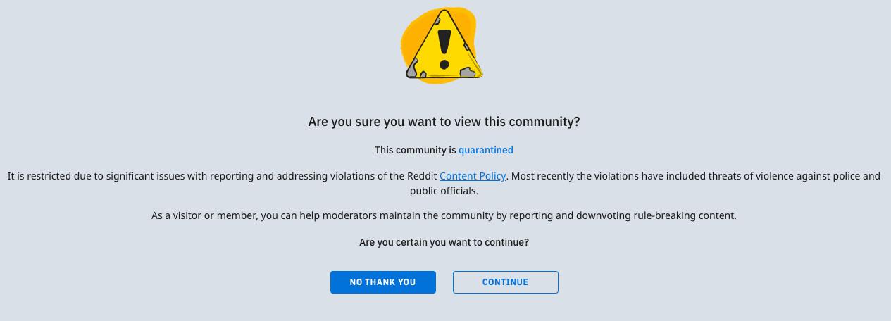 r/The_Donald, a pro-Trump Reddit forum, has been quarantined