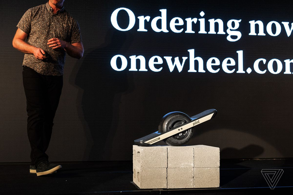 Onewheel's Pint is a new and more portable electric rideable