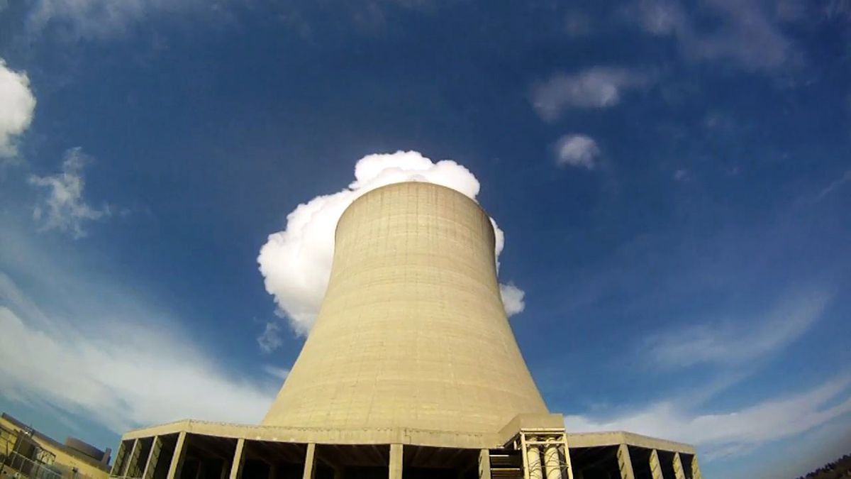 This 2011 photo shows steam escaping from Exelon Corp.'s nuclear plant in Byron, Ill.
