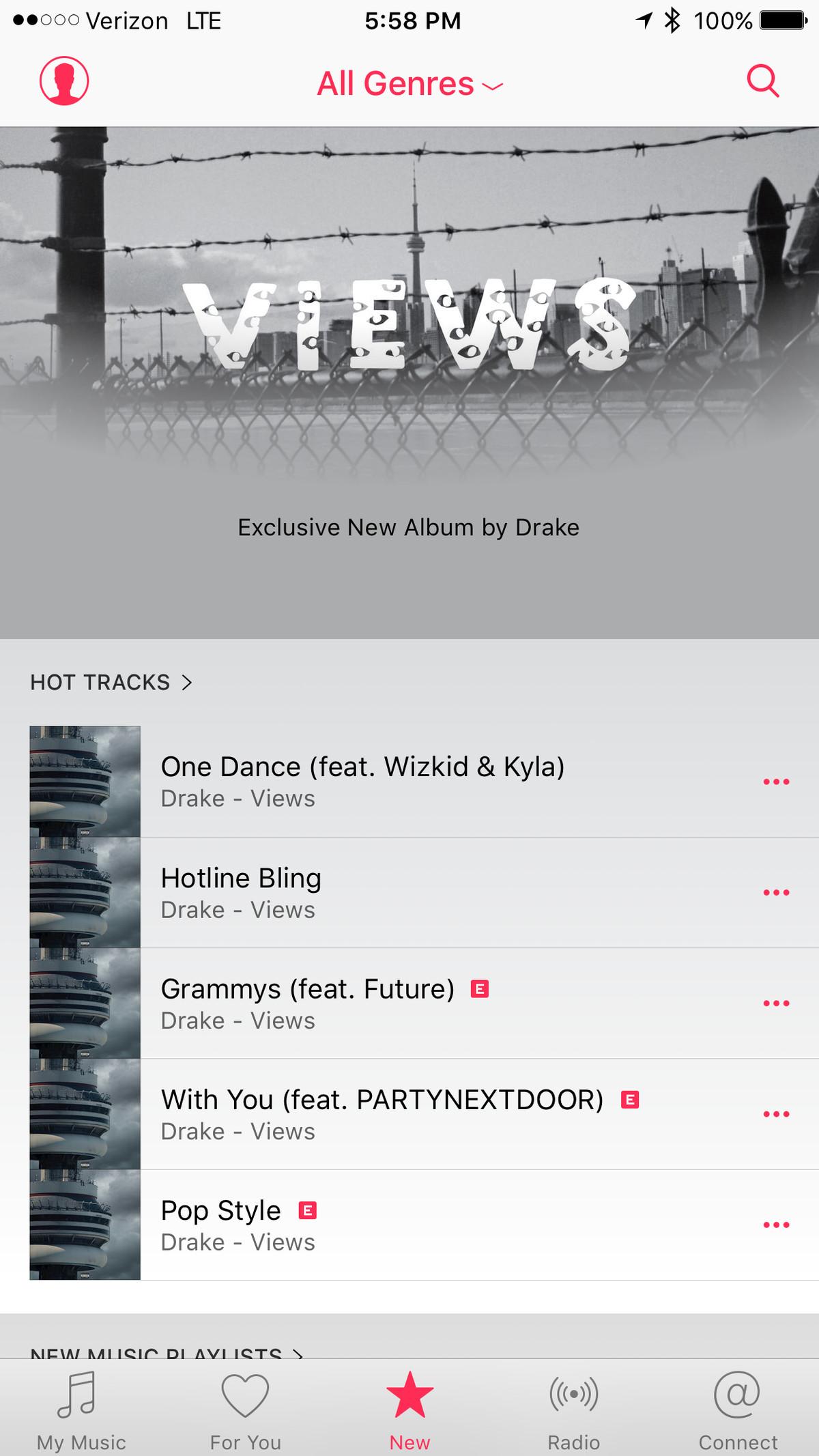 Apple Music search