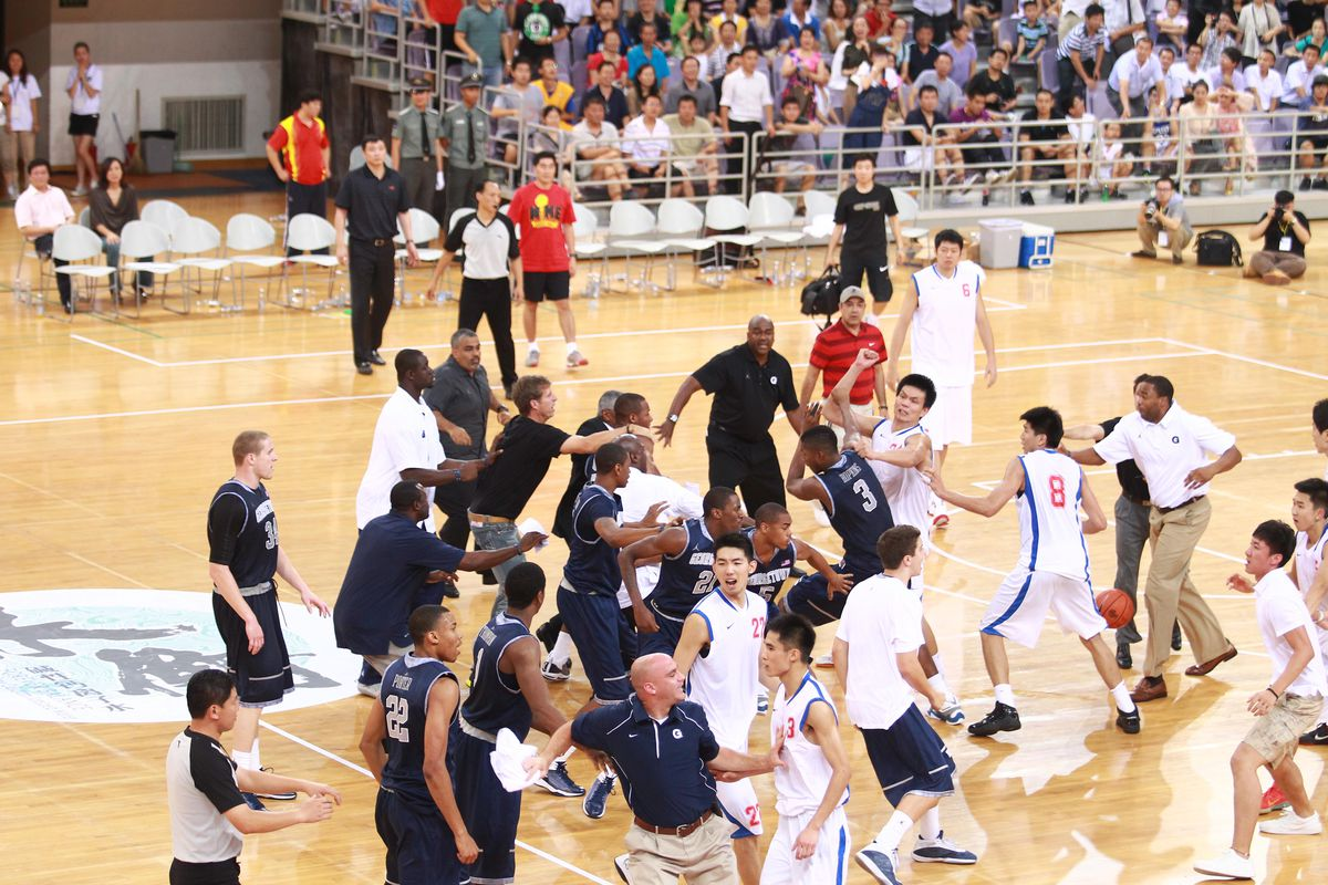 Basketball players from Georgetown Unive