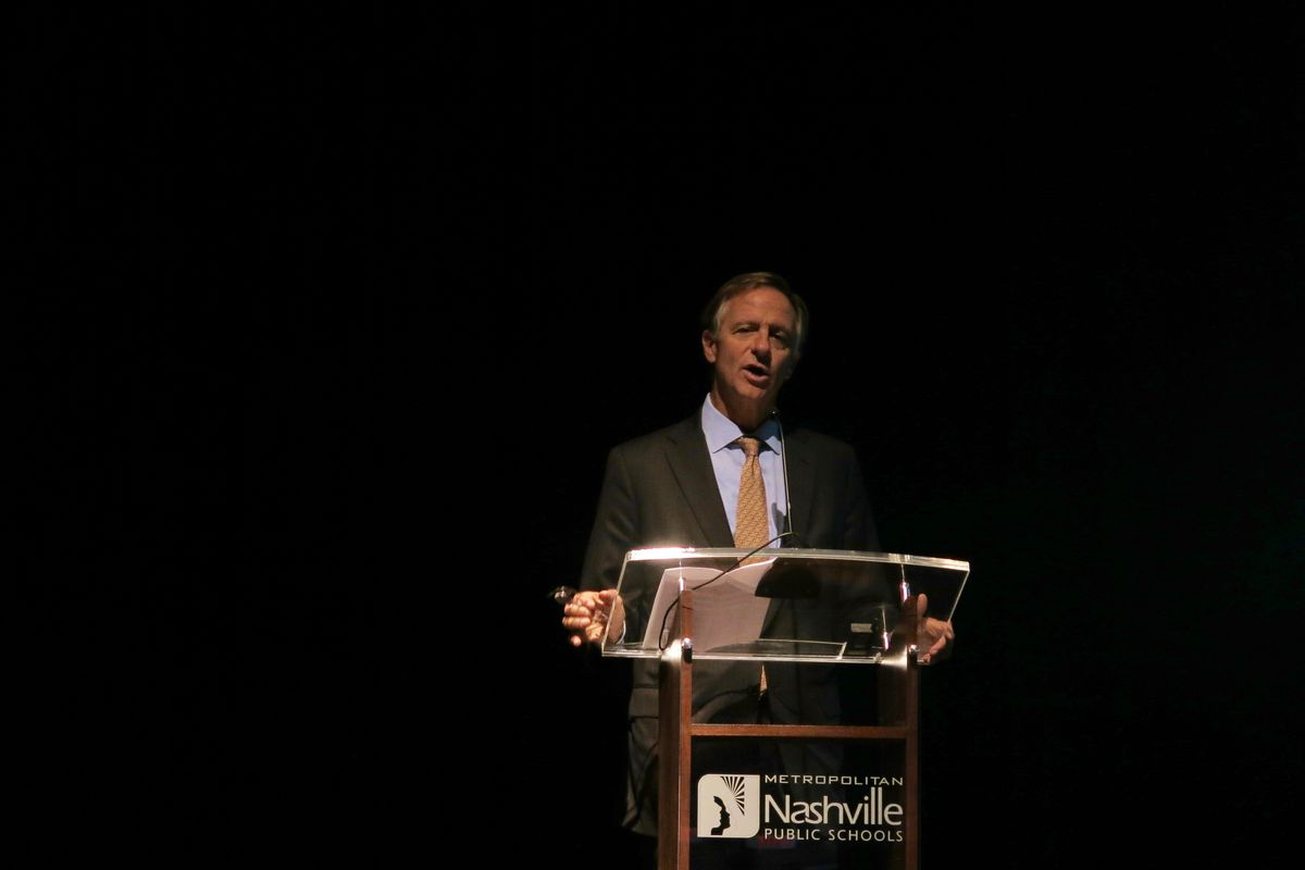 """Gov. Bill Haslam has said he wants to be remembered as Tennessee's """"education governor."""""""