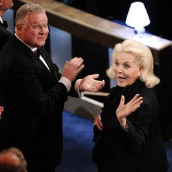 Lauren Bacall is presented the Governor's Award during the 82nd Academy Awards on Sunday.
