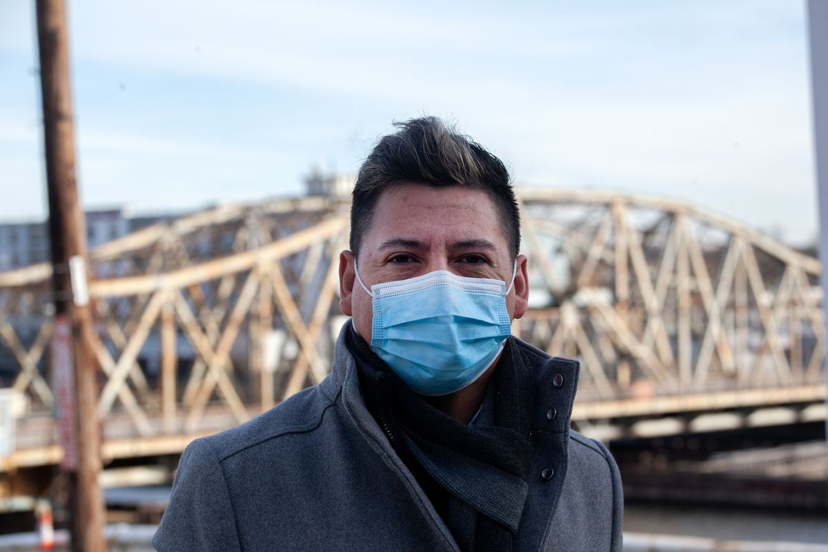 TPS holder Erasmo Ramos has been on the frontlines at New York-Presbyterian hospitals throughout the COVID-19 pandemic. Jan. 29, 2021.