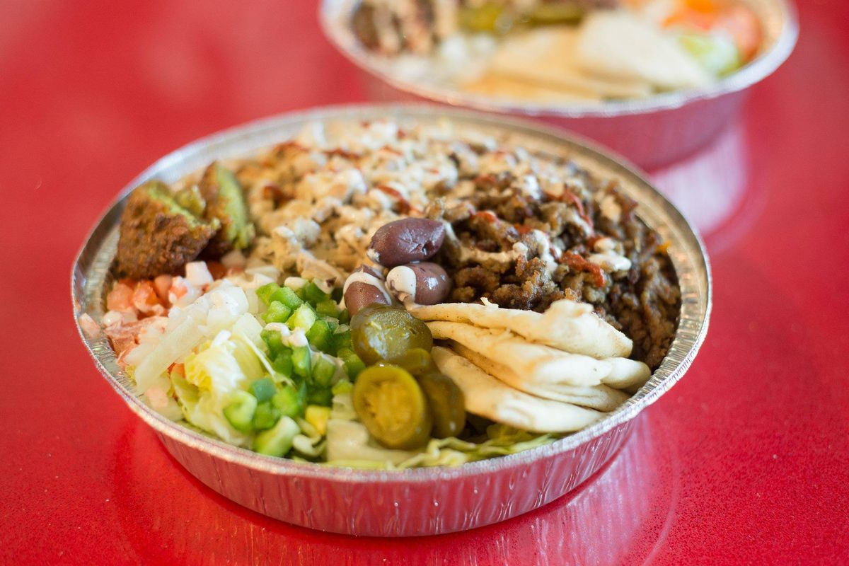 A platter from The Halal Guys