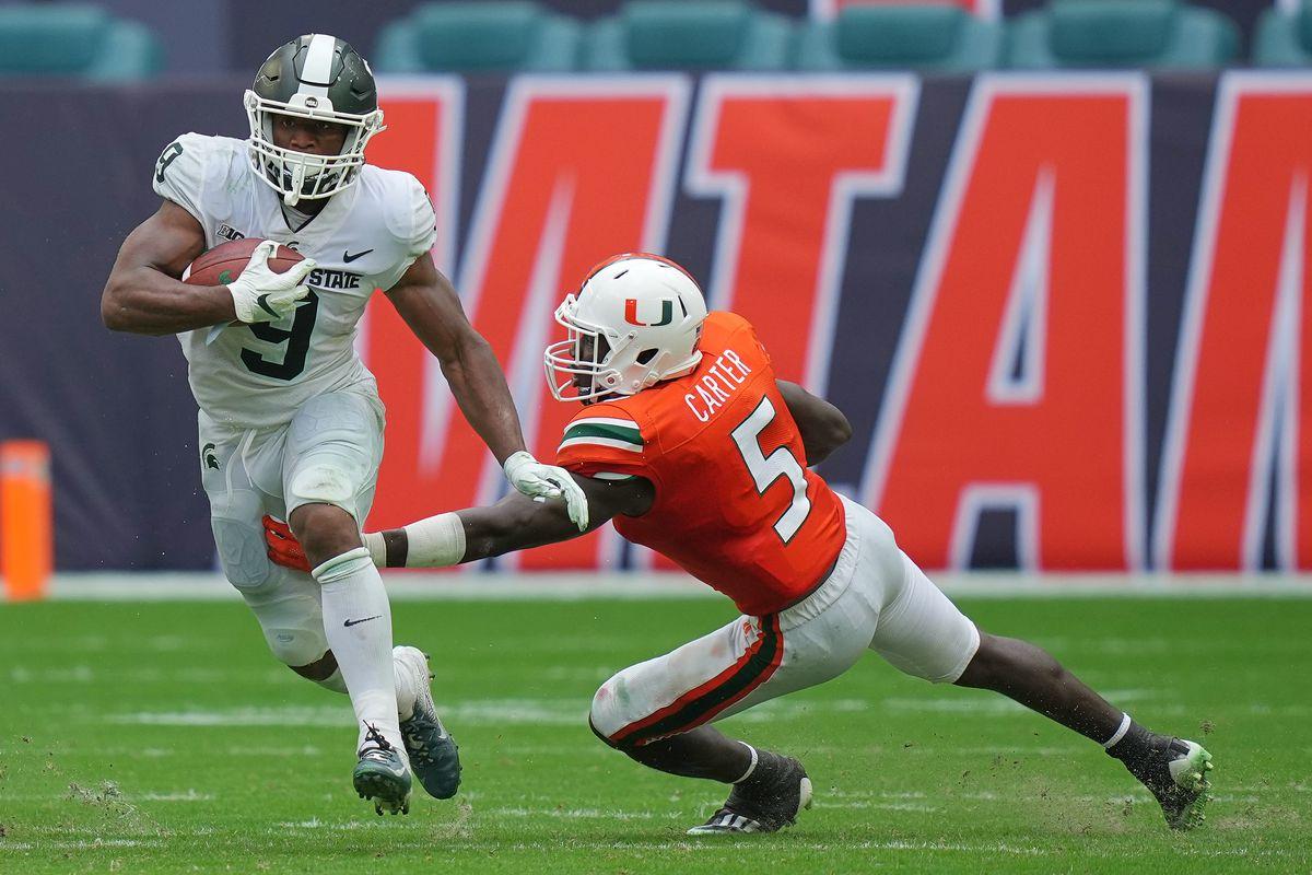 NCAA Football: Michigan State at Miami