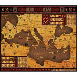 """The game board from """"Autokrator"""" from Diachron Games."""
