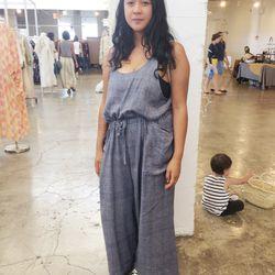 Artist and designer Cat Lauigan of Cave Collective wore the softest denim jumper.