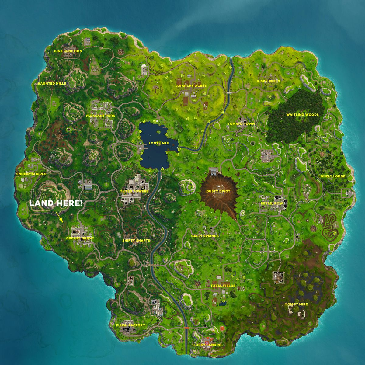 Search Between A Playground Campsite And A Footprint Fortnite