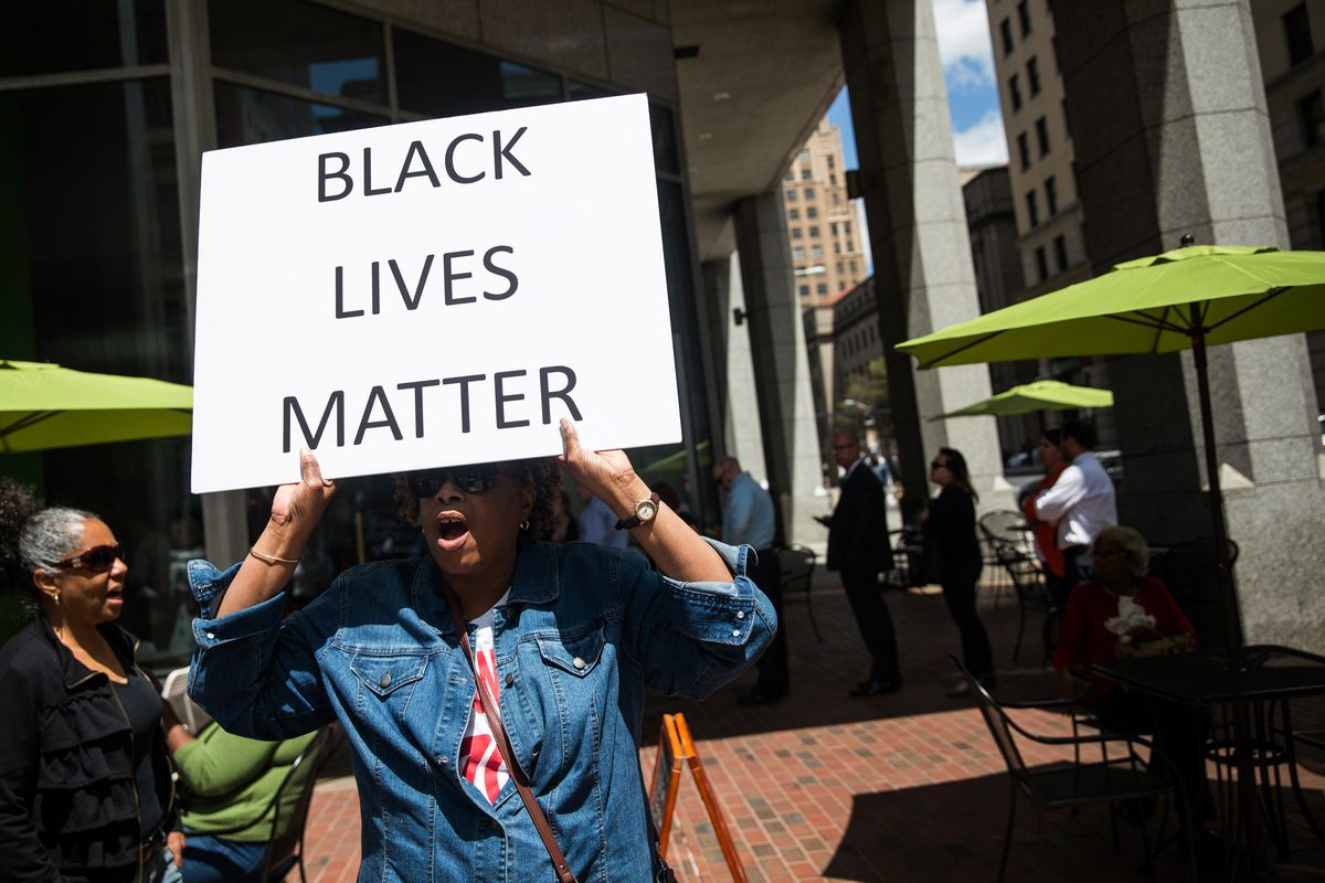 A protest in Baltimore.