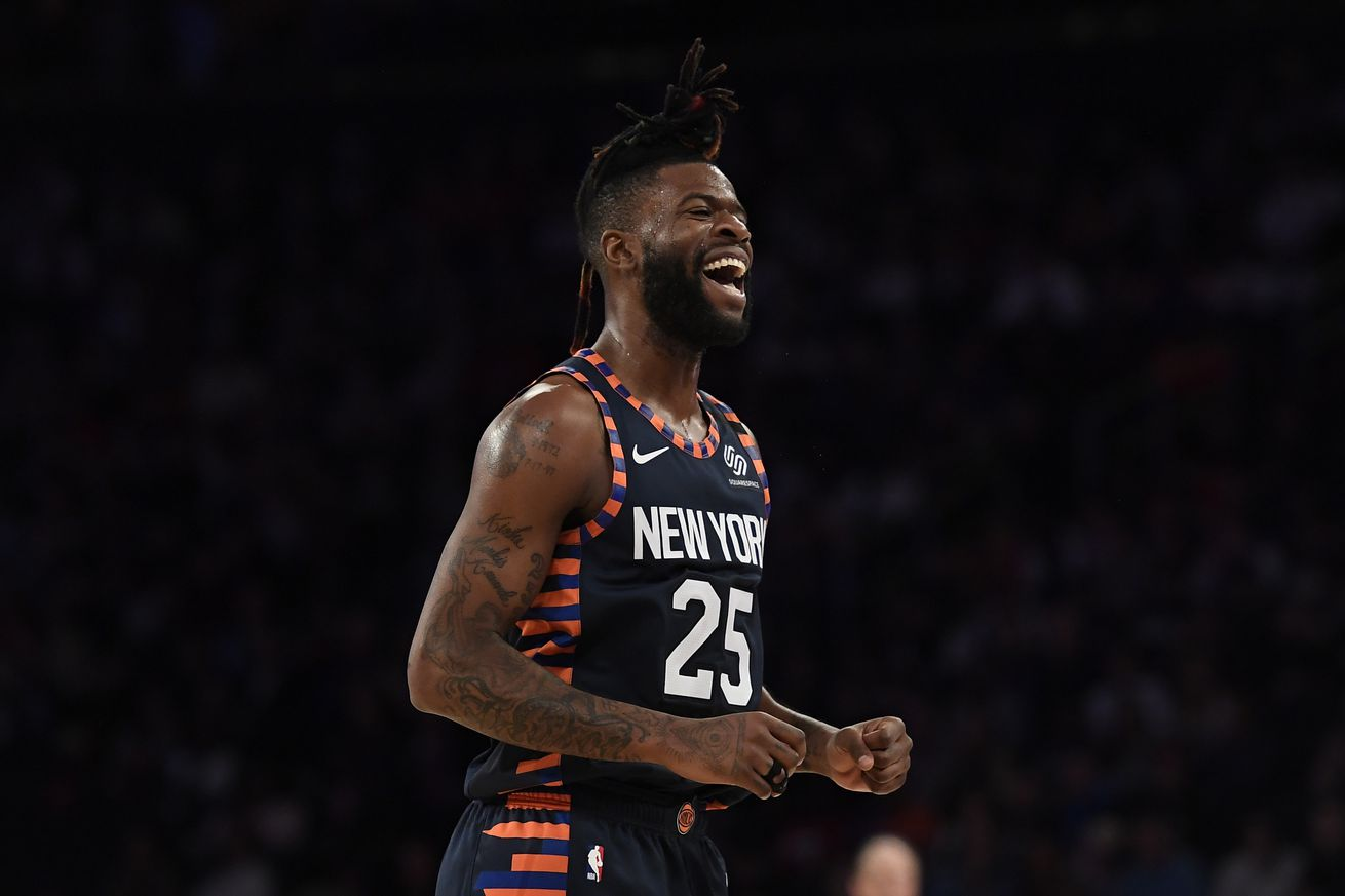 Reggie Bullock took on leading role for Knicks' Pride Night