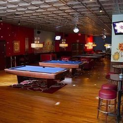 The pool tables at Drink & Drag.