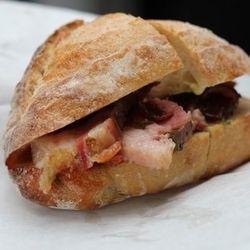 A16's porchetta sandwich.