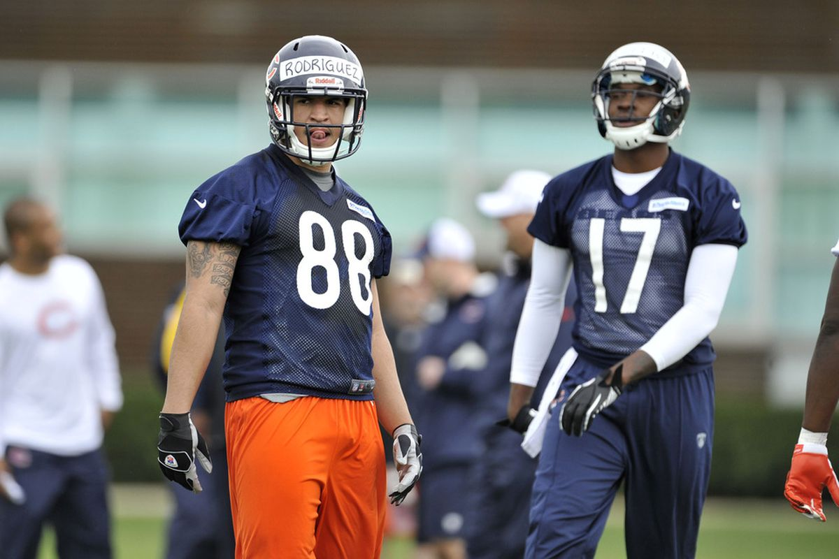 Will Evan Rodriguez #88 or Alshon Jeffery have a bigger impact for the Bears in 2012?