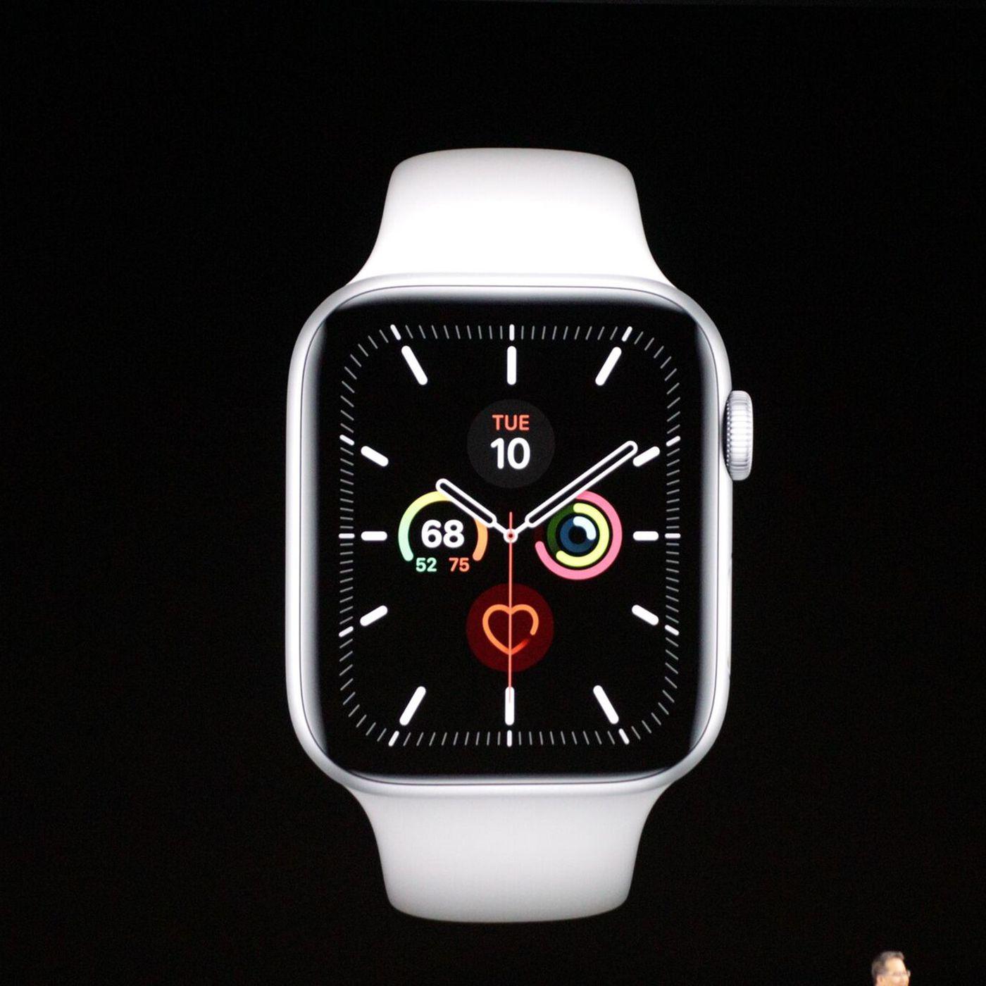 el precio más bajo 8f529 7d899 Apple Watch Series 5 has an always-on display and comes in ...