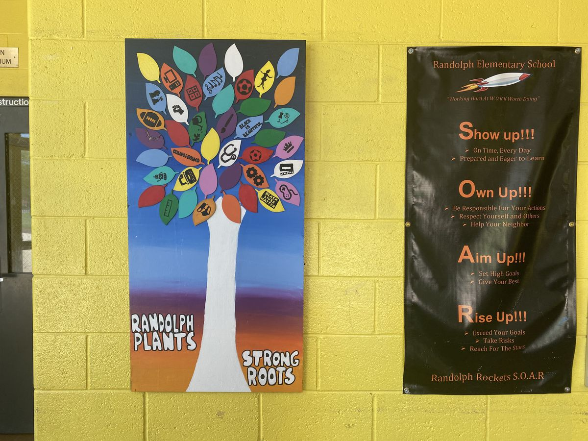 One of six murals installed in six Chicago Public Schools located on the South and West Sides on Thursday, May 13, 2021.