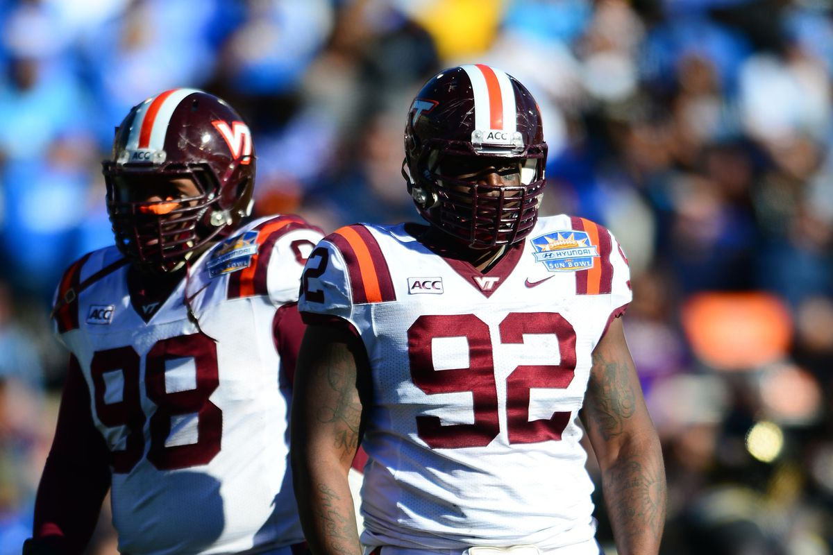 Another Florida TD for the Hokies, as Jarrod Hewitt steps up to replace Luther Maddy down the line.
