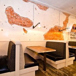 Pearl Dive Oyster Palace seating.