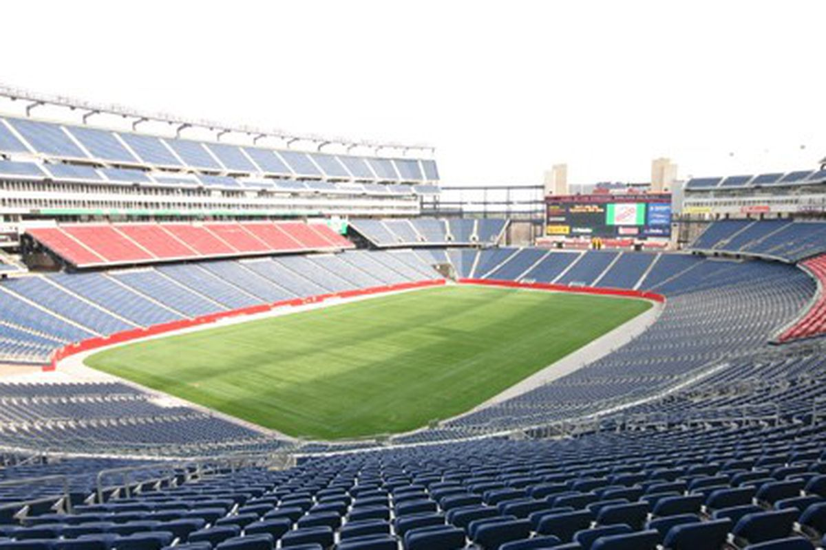 Gillette Stadium, pictured during one of UMass's MACtion showdowns last year