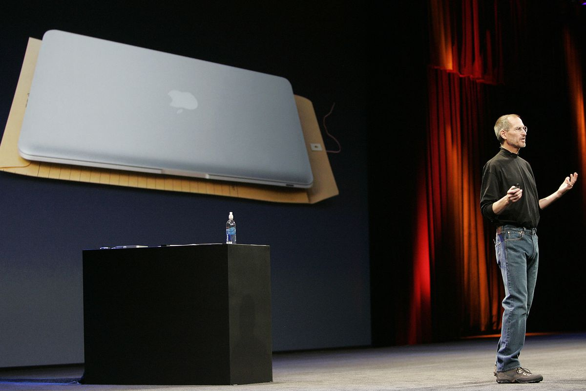 Apple CEO and co-founder Steve Jobs show