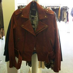 Luxe leather jacket, $395